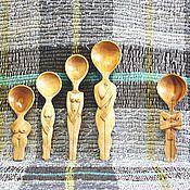 """Для дома и интерьера ручной работы. Ярмарка Мастеров - ручная работа """"Гюльчатай, открой личико""""- композиция из деревянных ложек. Handmade."""
