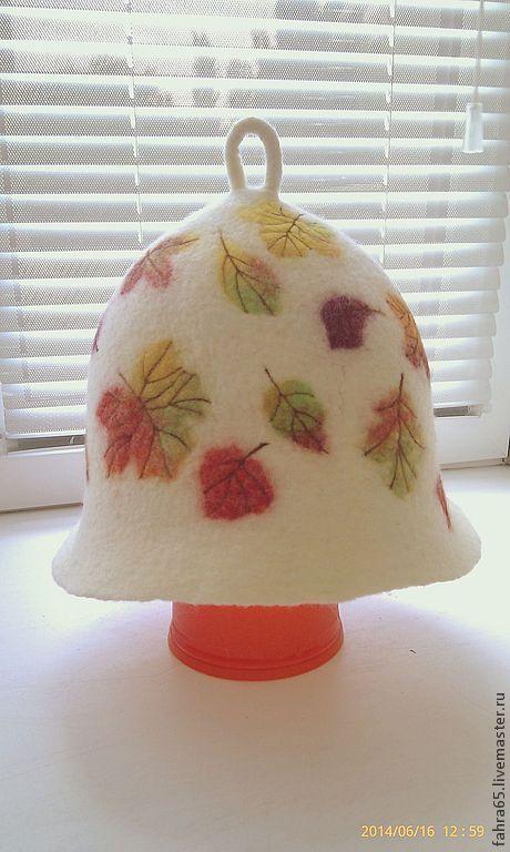 """Банные принадлежности ручной работы. Ярмарка Мастеров - ручная работа. Купить Банная шапка """"Осень"""". Handmade. Банная шапка"""