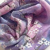 Аксессуары ручной работы. Ярмарка Мастеров - ручная работа шарф шелковый Сакура. Handmade.