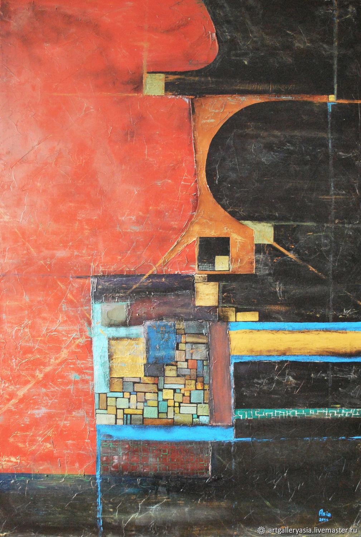 "Абстрактная картина в лофт ""Поддержка"", Картины, Москва,  Фото №1"