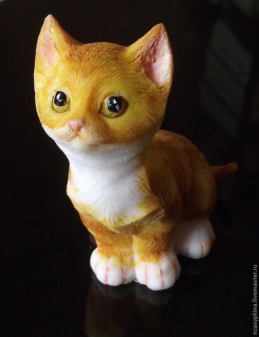 """Мыло ручной работы. Ярмарка Мастеров - ручная работа. Купить Мыло """"Рыжий кот"""". Handmade. Рыжий, необычное мыло"""