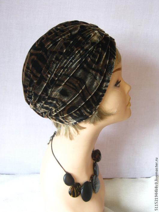 Шляпы ручной работы. Ярмарка Мастеров - ручная работа. Купить Чалма бархатная весна. Handmade. Тюрбан, модная шапка