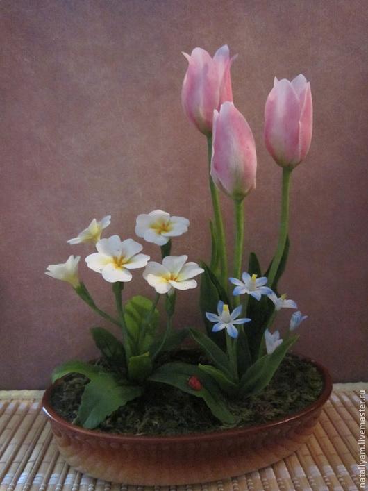 """Интерьерные композиции ручной работы. Ярмарка Мастеров - ручная работа. Купить Композиция """"Нежность весны"""". Handmade. Бледно-розовый, белый"""