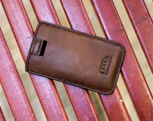 Для телефонов ручной работы. Ярмарка Мастеров - ручная работа. Купить Чехол кожаный для iPhone 5c, чехол для телефона. Handmade.