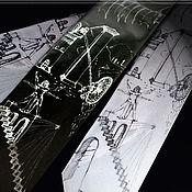 Аксессуары handmade. Livemaster - original item The inventions of Leonardo da Vinci tie. Original painting.. Handmade.