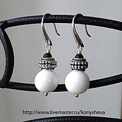 Украшения handmade. Livemaster - original item Earrings black and white). Handmade.