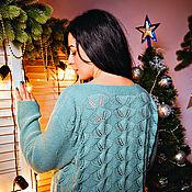 Одежда ручной работы. Ярмарка Мастеров - ручная работа Ажурный джемпер, вязаный спицами. Handmade.