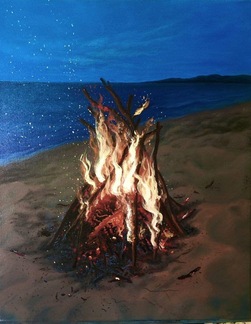 Картина маслом магия огня, Картины, Белгород,  Фото №1