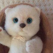Куклы и игрушки ручной работы. Ярмарка Мастеров - ручная работа Валяный котёнок Пушок. Handmade.