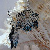 Украшения handmade. Livemaster - original item Snowflake Christmas earrings. Handmade.