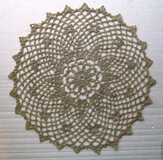Текстиль, ковры ручной работы. Ярмарка Мастеров - ручная работа. Купить Салфетка № 74. Handmade. Бежевый, салфетка