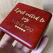 handmade. Livemaster - original item Music box I Just Called to Say I Love You - Stevie Wonder. Handmade.