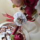 Топиарии ручной работы. Заказать топиарий «Бордовые цветы». Наталья Быкова. Ярмарка Мастеров. Весна, подарок коллеге, лента атласная