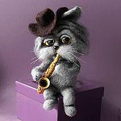 Куклы и игрушки ручной работы. Ярмарка Мастеров - ручная работа Кошачий блюз. Handmade.
