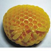 Материалы для творчества handmade. Livemaster - original item Silicone molds for soap Two bees on honeycombs. Handmade.