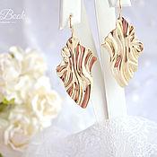 Украшения handmade. Livemaster - original item Large earrings with metal pendant,