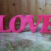 """Для дома и интерьера ручной работы. Ярмарка Мастеров - ручная работа Слово """"LOVE"""" для интерьера и фотосессий из массива сосны. Handmade."""