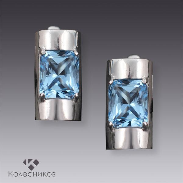 Earrings with Topaz Business Lady (Topaz silver), Rings, Yaroslavl,  Фото №1