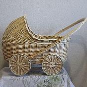 Куклы и игрушки handmade. Livemaster - original item Doll stroller wicker. Handmade.