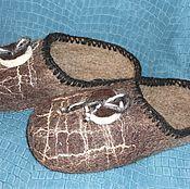 """Обувь ручной работы. Ярмарка Мастеров - ручная работа Тапки мужские """"Элегантные"""". Handmade."""