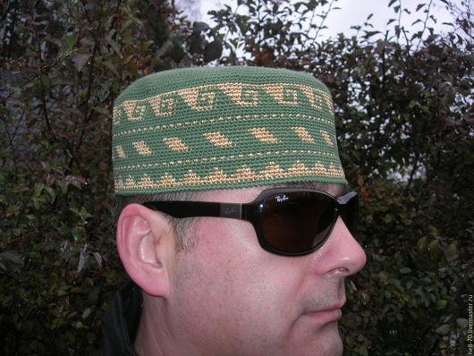 """Для мужчин, ручной работы. Ярмарка Мастеров - ручная работа. Купить Шапка  """"Султан-7"""". Handmade. Разноцветный, для мужа, стильно"""