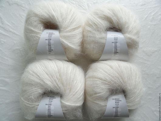 Вязание ручной работы. Ярмарка Мастеров - ручная работа. Купить Пряжа Lang Yarns Mohair Trend  0001. Handmade.
