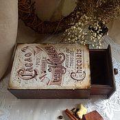 """Для дома и интерьера ручной работы. Ярмарка Мастеров - ручная работа Короб для хранения какао """"Van Houten"""" короб для кофе. Handmade."""