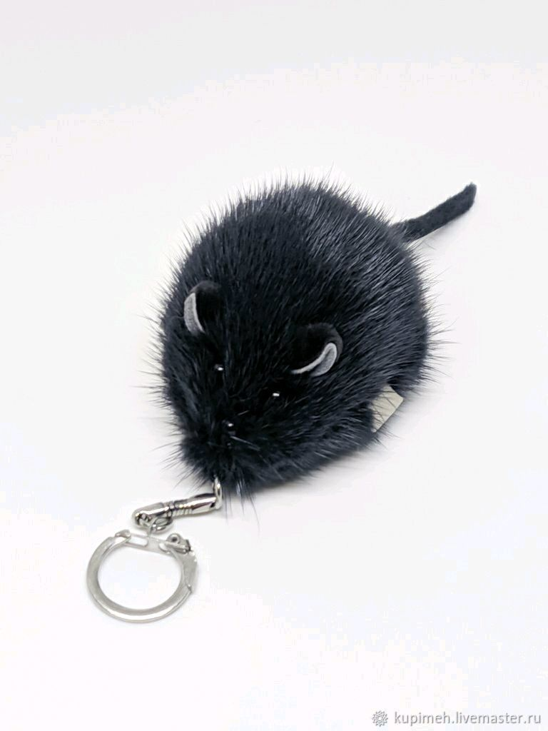 Mouse souvenir, keychain made of mink fur, Christmas gifts, Nalchik,  Фото №1