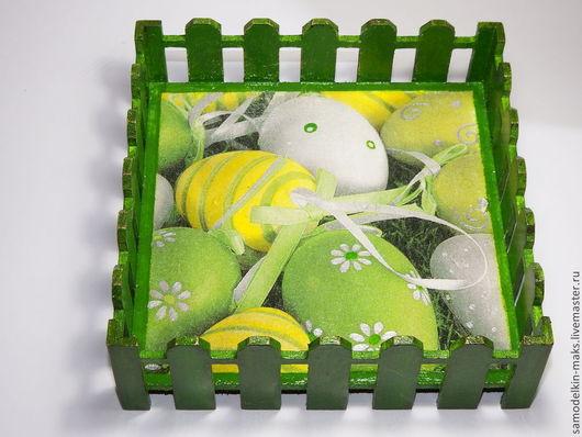 Подарки на Пасху ручной работы. Ярмарка Мастеров - ручная работа. Купить Подставка Пасха. Handmade. Зеленый, пасхальный подарок