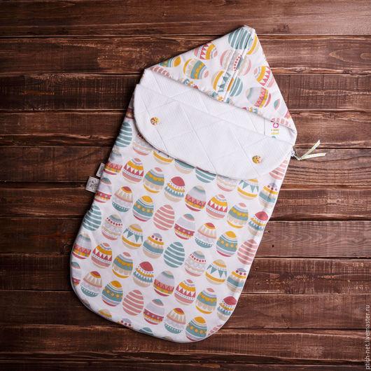 """Для новорожденных, ручной работы. Ярмарка Мастеров - ручная работа. Купить Конверт детский на выписку """"Faberge Eggs"""". Handmade. пейсли"""