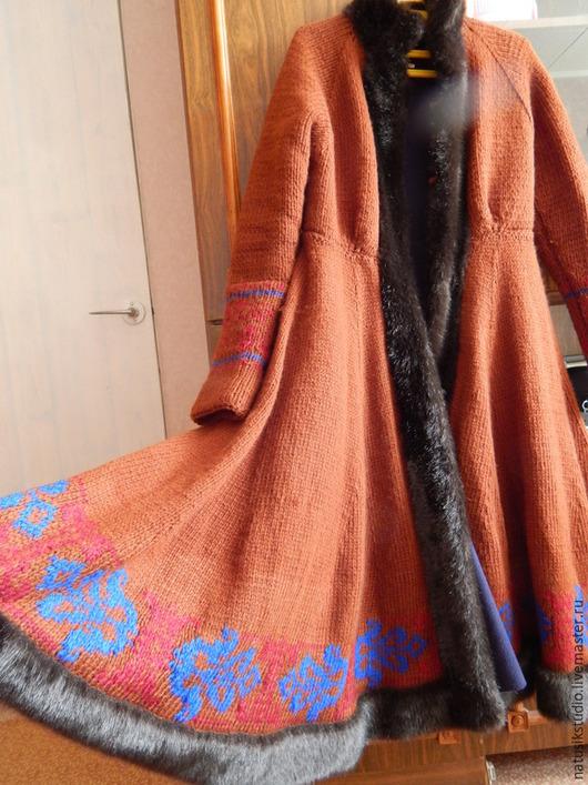 Верхняя одежда ручной работы. Ярмарка Мастеров - ручная работа. Купить Пальто С Барского плеча. Handmade. Вязаное пальто