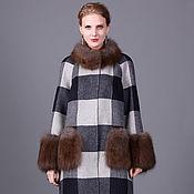 Одежда ручной работы. Ярмарка Мастеров - ручная работа Пальто с мехом лисы - изделие № 83. Handmade.