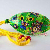 Музыкальные инструменты handmade. Livemaster - original item Hand-made clay Ocarina Tin whistle . Exclusive whistle. Handmade.