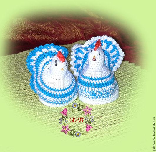 Подарки на Пасху ручной работы. Ярмарка Мастеров - ручная работа. Купить Курочка и петушок грелки для яиц. Handmade. Пасха, курочка