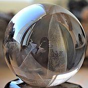Фен-шуй и эзотерика handmade. Livemaster - original item Ball smoky quartz on a stand 89 mm. Handmade.