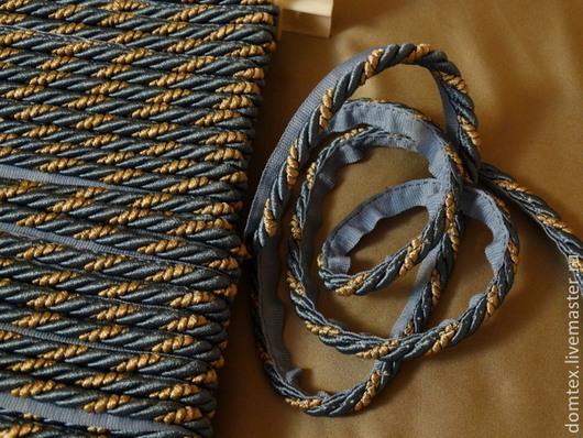 Шитье ручной работы. Ярмарка Мастеров - ручная работа. Купить Декоративный кант с тесьмой (синий меланж) 8мм. Handmade. Синий