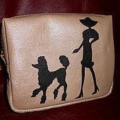 Сумки и аксессуары handmade. Livemaster - original item Toiletry bag leather the lady with the dog (SOLD). Handmade.