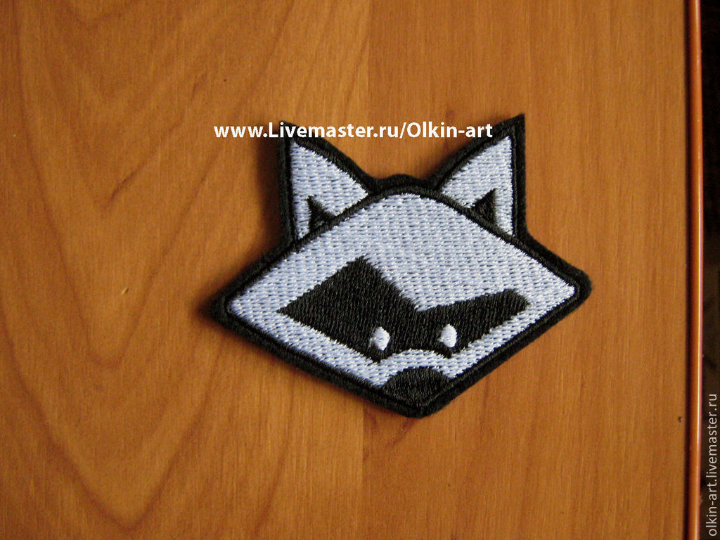 Stripe `Raccoon` Machine embroidery. Beloretskiy stripe. Patch. Chevron. Patch. Embroidery. Chevrons. Patches. Stripe. Buy patch.