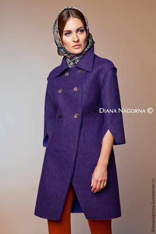 """Верхняя одежда ручной работы. Ярмарка Мастеров - ручная работа. Купить Авторское пальто из мериносовой шерсти """" Judy """". Handmade."""