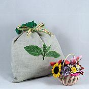 Для дома и интерьера handmade. Livemaster - original item MINT LEAF pouch for storage of dry mint, original gift. Handmade.