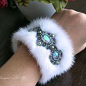 Украшения handmade. Livemaster - original item Bracelet mink Mint flavor, fur bracelet, mink.. Handmade.