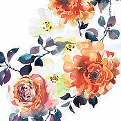 Картины и панно ручной работы. Ярмарка Мастеров - ручная работа Оранжевые розы. Handmade.