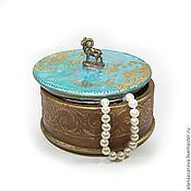 Подарки к праздникам handmade. Livemaster - original item The box is round