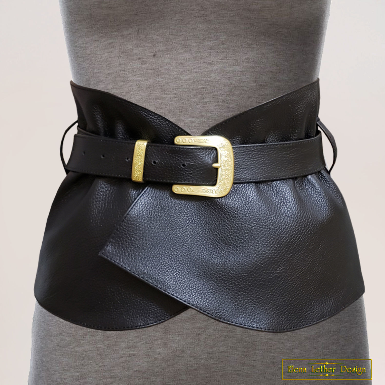 Belt-corset 'Retro' of genuine leather, Belt, Rodniki,  Фото №1