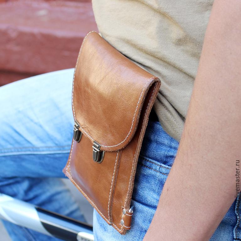 415ae87b44dd ... Мужские сумки ручной работы. Коричневая мужская сумка из натуральной  кожи, сумка для документов.