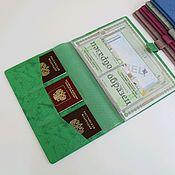Канцелярские товары handmade. Livemaster - original item Organizer for A4 documents green Python. Handmade.