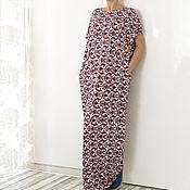 Одежда ручной работы. Ярмарка Мастеров - ручная работа Летнее длинное макси платье, кафтан, абайя, большие размеры. Handmade.