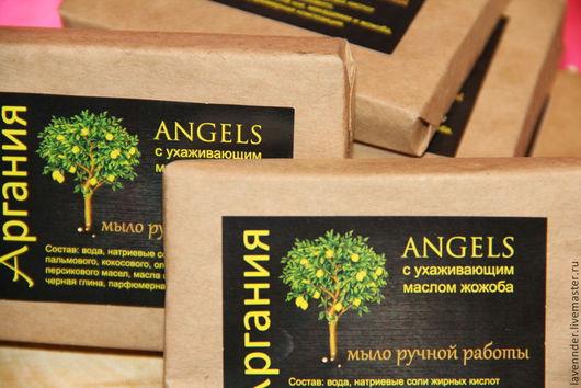 """Мыло ручной работы. Ярмарка Мастеров - ручная работа. Купить Натуральное мыло ручной работы """"ANGELS"""". Handmade. Черный"""
