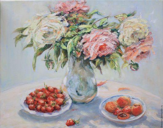 Заказать купить картину маслом  Картина маслом в подарок любимой Картина маслом цветы Розы Картина маслом натюрморт букет Розы