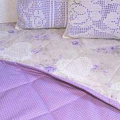 Для дома и интерьера ручной работы. Ярмарка Мастеров - ручная работа Комплект в спальню покрывало подушки. Handmade.